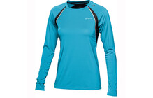 ASICS L2 Women's LS Crew Top aquarium performance noir